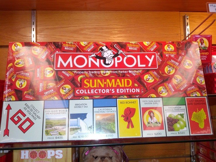 Weird Monopoly Games Sun Maid