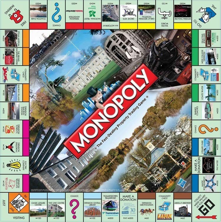 Weird Monopoly Games Swindon