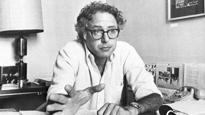 Young Bernie Sanders At Desk