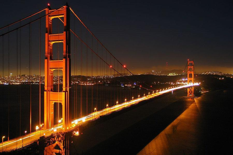 Golden Gate Bridge Photos Night