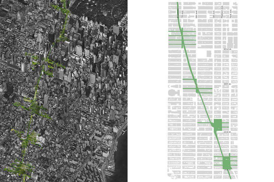 Green Line Park Manhattan New York