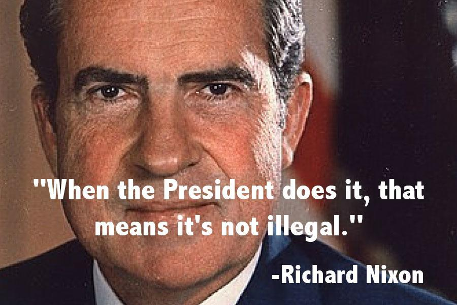 Nixon Presidents Illegal