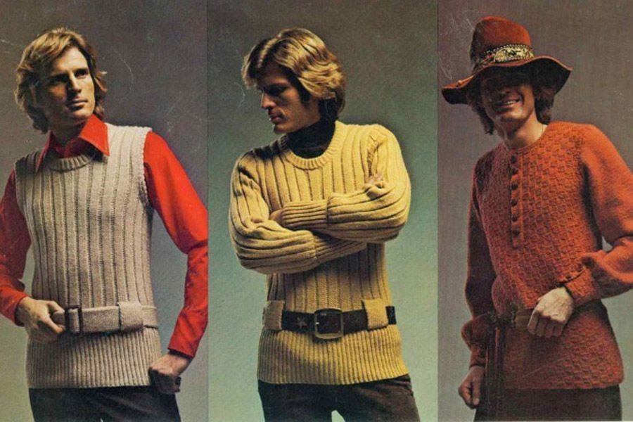 Terrible 1970s Menswear Ads Belted Sweaters