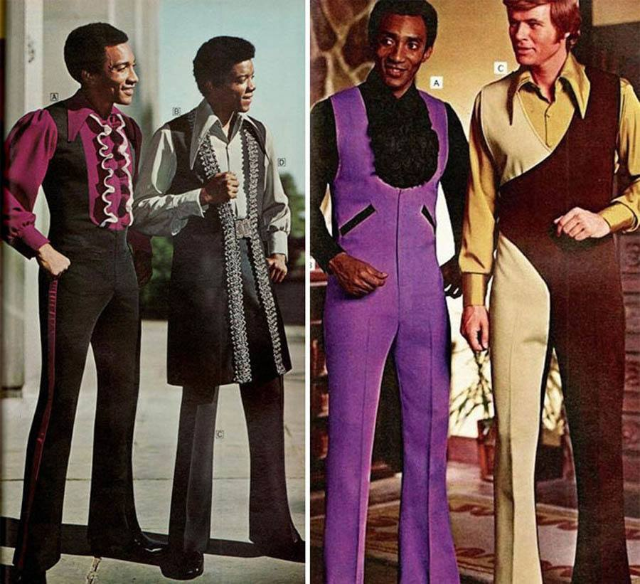 Weird 1970s Menswear Ads Purple Ruffles