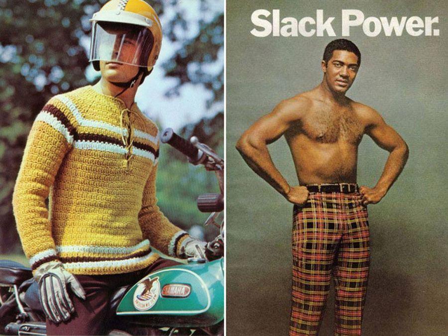 Weird 1970s Menswear Ads Slack Power