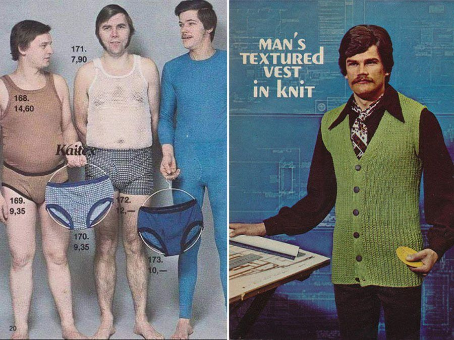 Weird 1970s Menswear Ads Underwear Vests