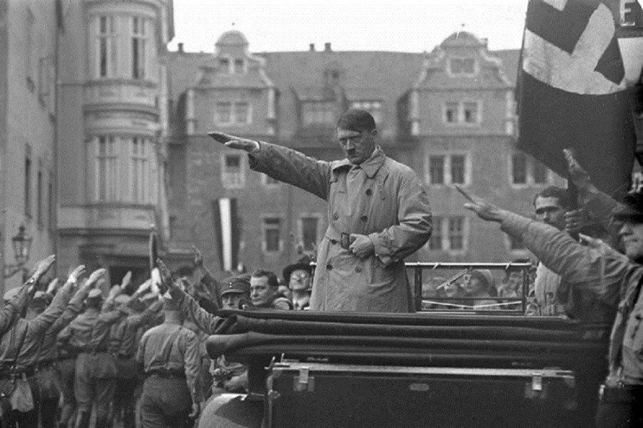 Adolf Hitler Saluting