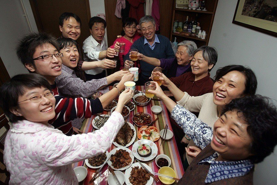 Chinese New Year Family Meal