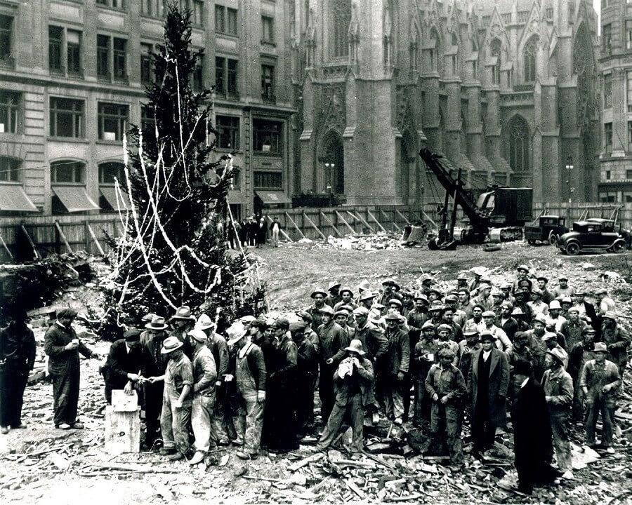 First Rockefeller Tree Lighting