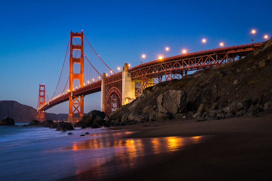 Golden Gate Bridge Photos Beach