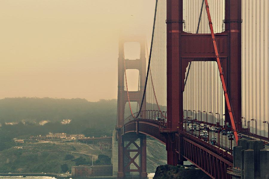 Golden Gate Bridge Haze