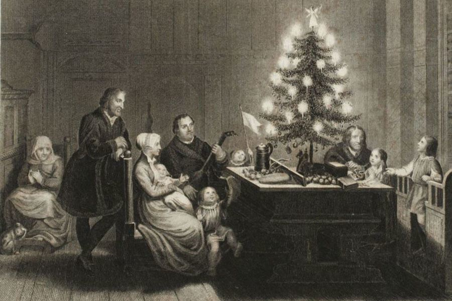 History Of Christmas Tree Martin Luther