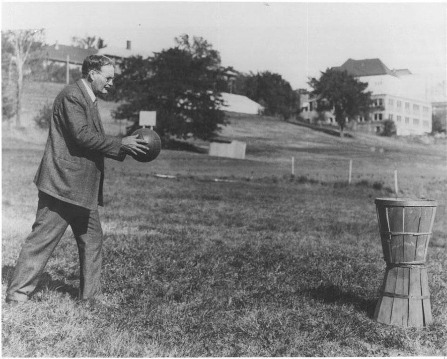 dr james naismith and the invention of the sport of basketball Dr james naismith, the inventor of basketball, practicing with his wife  to  basketball writers in which he denounced modern trends in his sport.