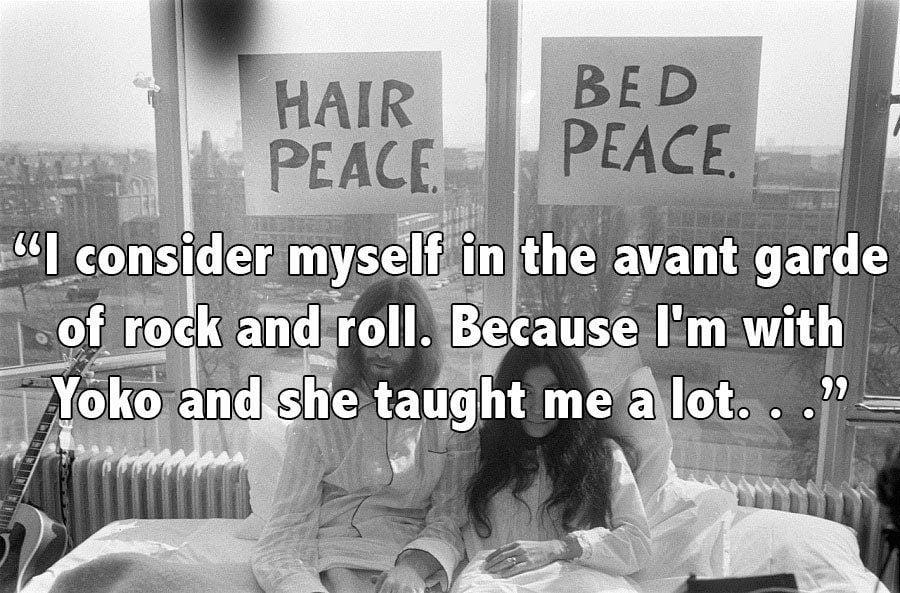 John Lennon Bed Peace