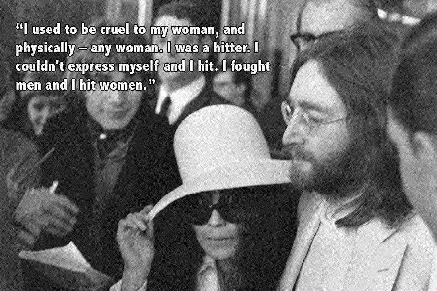 John Lennon Holding Yoko