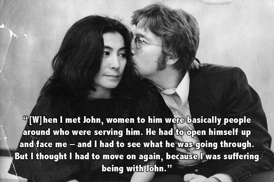 John Lennon Kissing Yoko