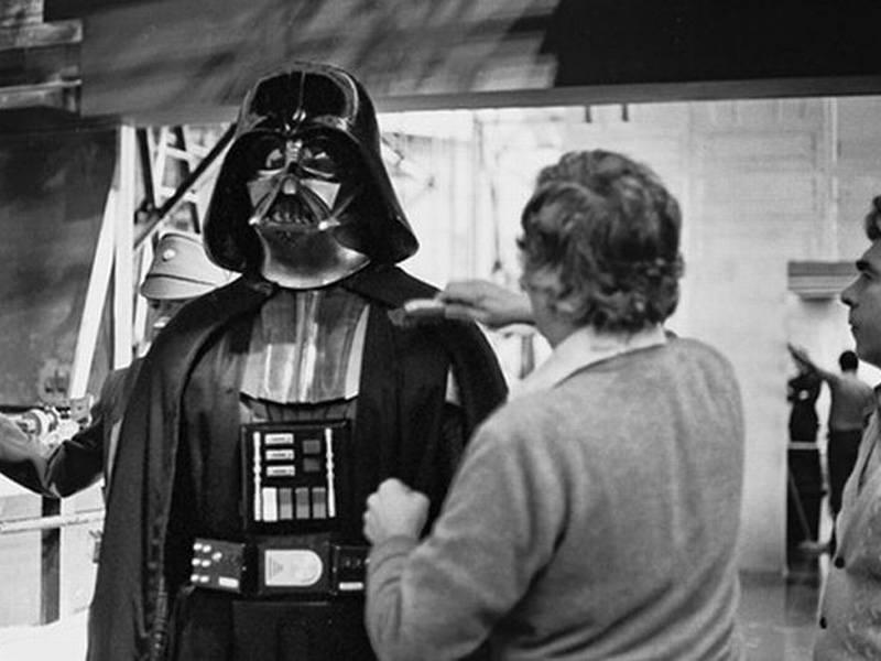 Lint Brushing Darth Vader