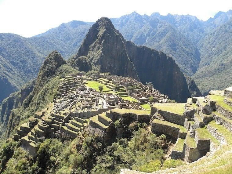 Machu Picchu Terraces Sun