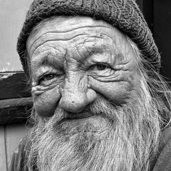 Old Homeless Man Portrait