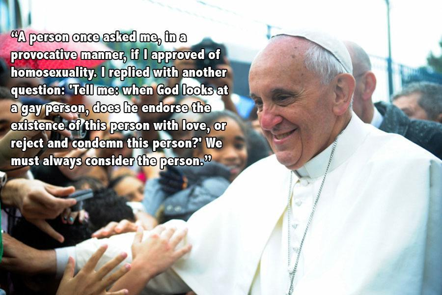 Pope Francis Progressive Quotes Crowd