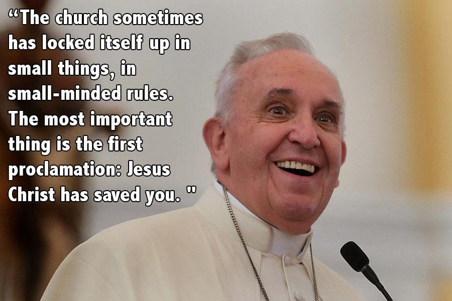 Pope Francis Progressive Quotes No Hat