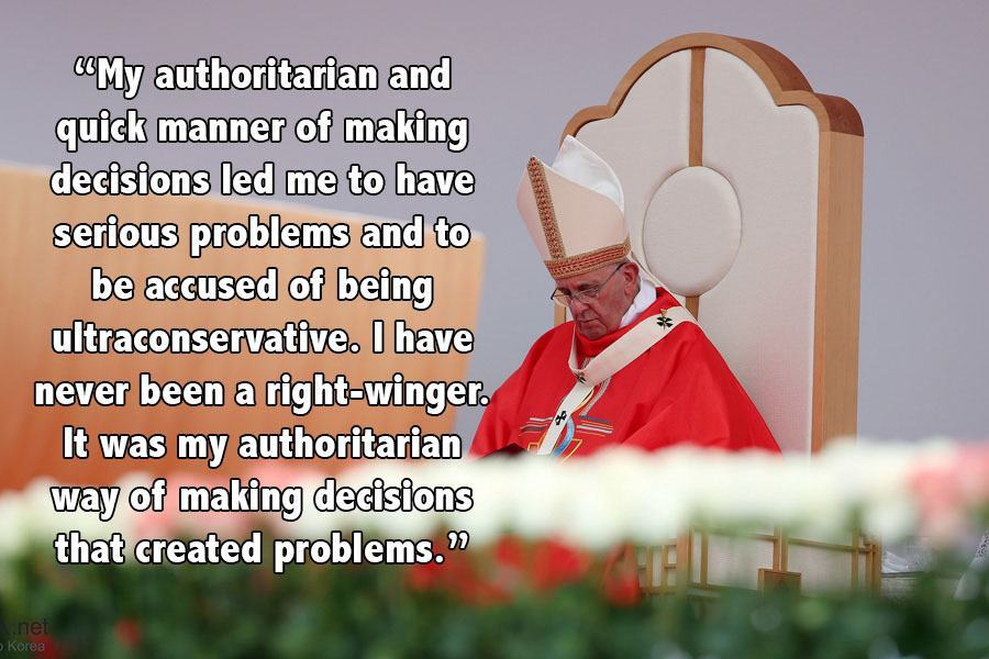 Pope Francis Progressive Quotes Sitting