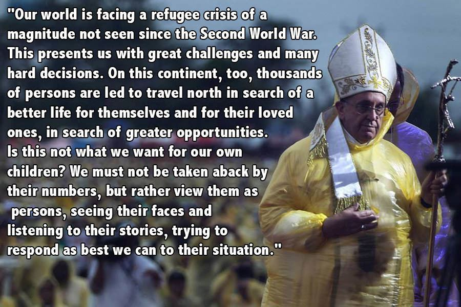 Pope Francis Progressive Quotes Yellow