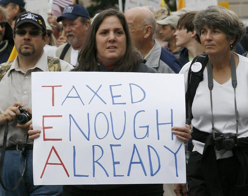 Tea Party Tax Sign
