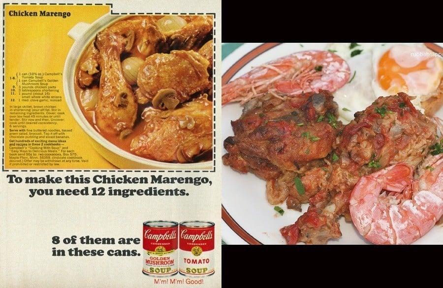 1960s Food Chicken Marengo