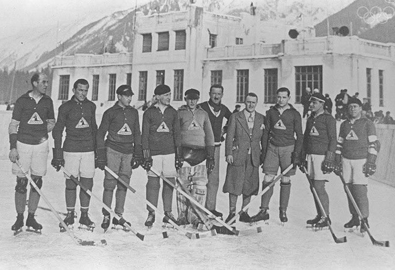 Hockey Team From The First Winter Olympics In 1924