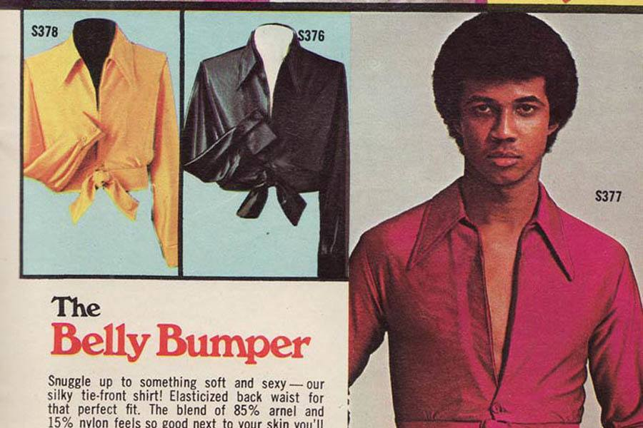 Weird 1970s Menswear Ads Belly Bumper