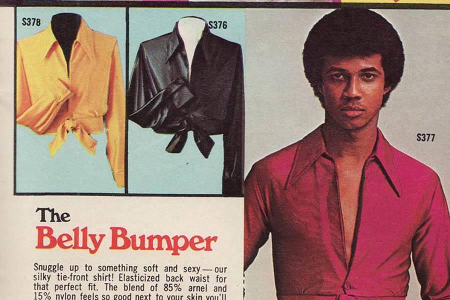 Weird 1970s Menswear Ads Belly Bumper