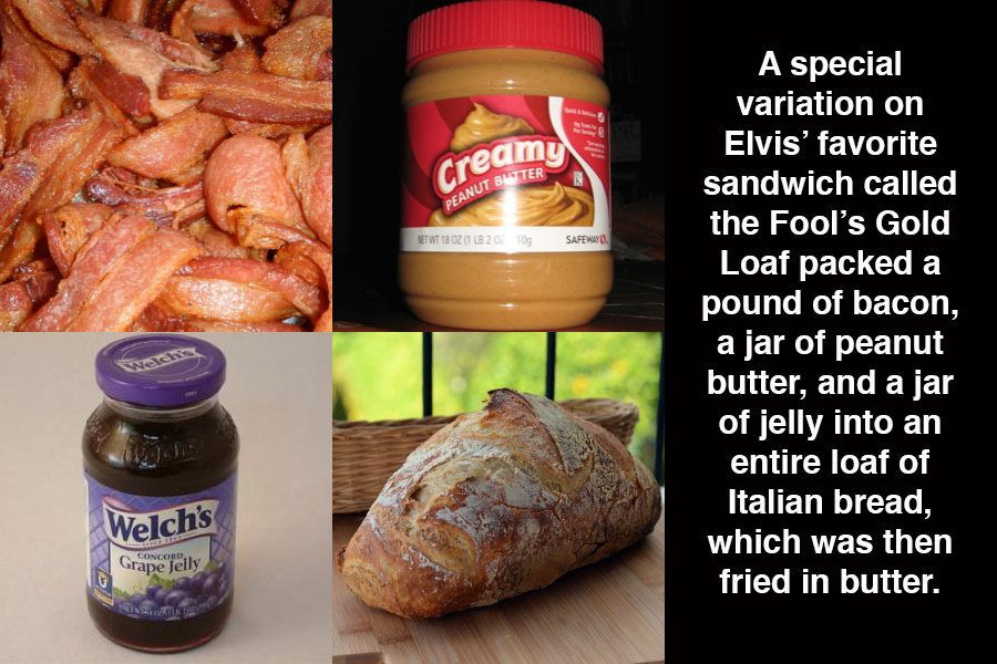 Elvis Sandwich Ingredients