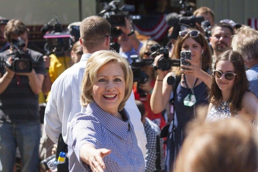 Iowa Caucus Hillary Clinton
