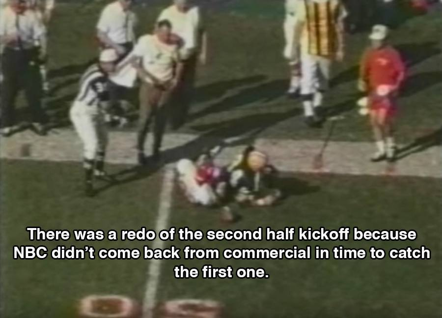 Kickoff Halftime During Super Bowl 1