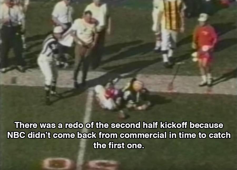 Kickoff Halftime