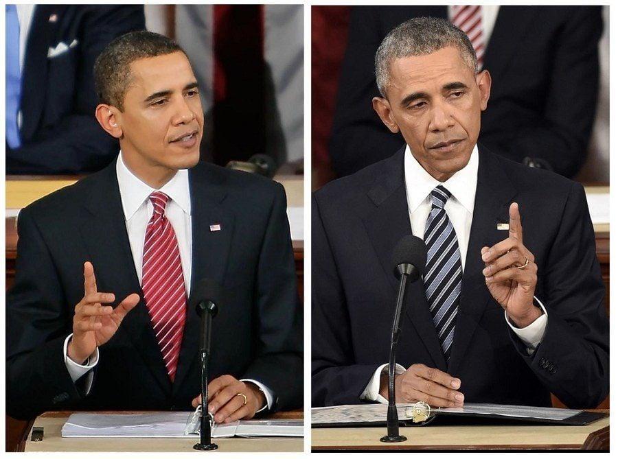 Barack Obama Aging Photographs