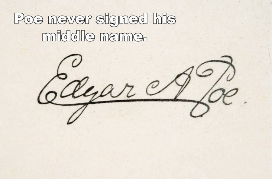 Poe Facts Middle Name
