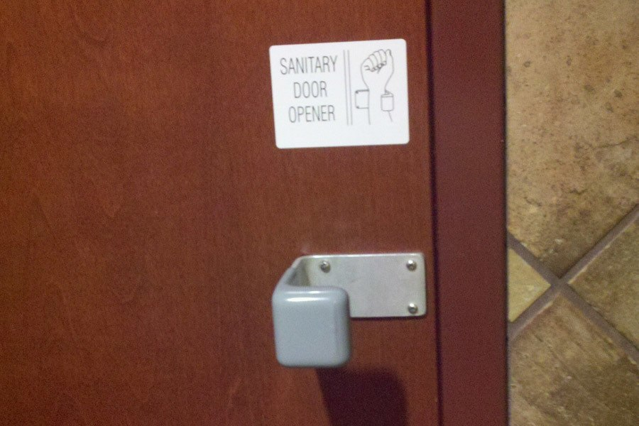 public bathroom door. public restroom facts door bathroom o