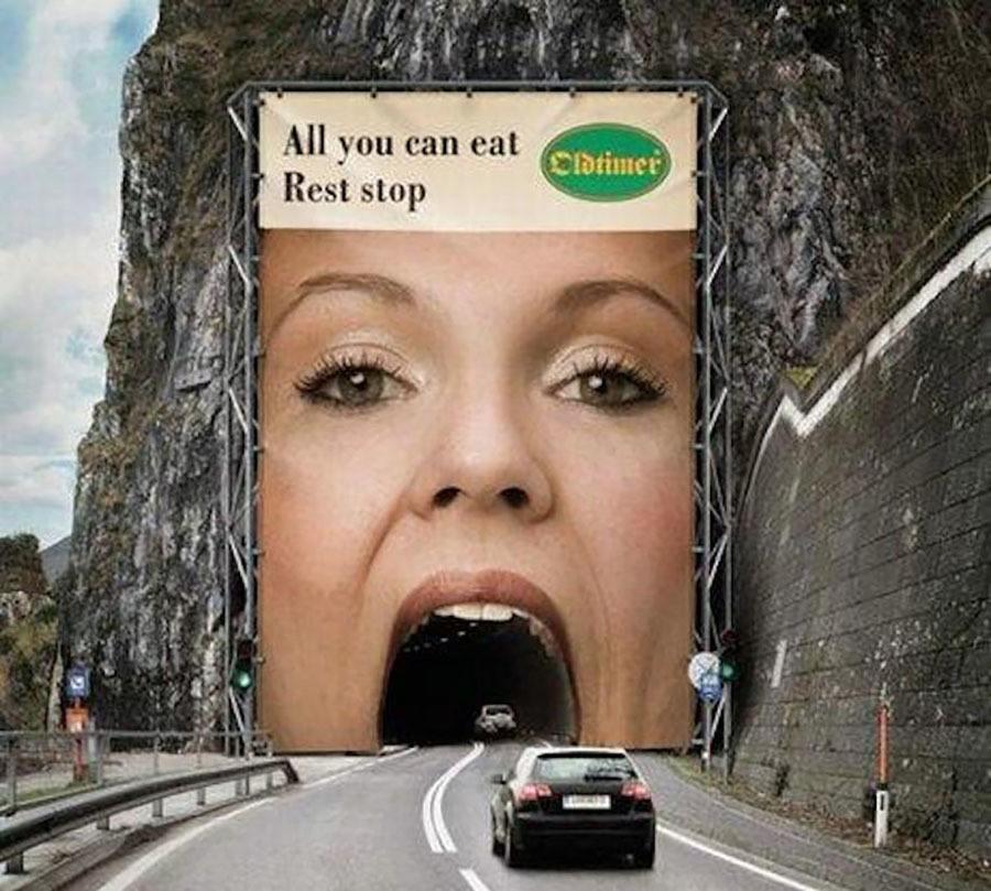 Strange Ads Buffet Stop