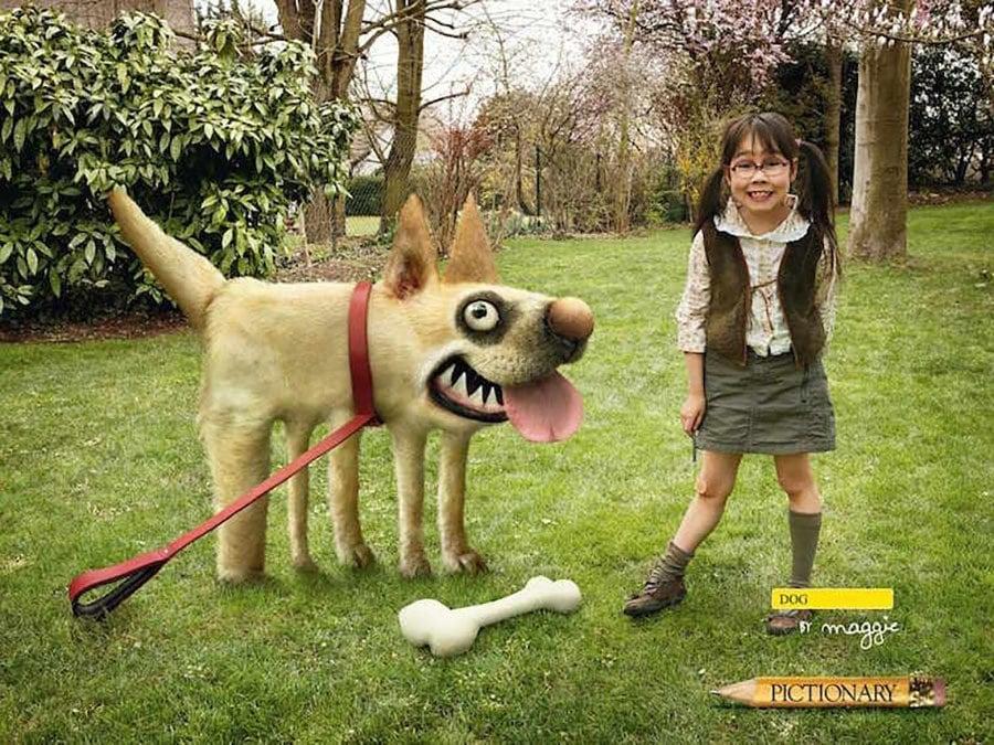 Strange Ads Pictionary Dog