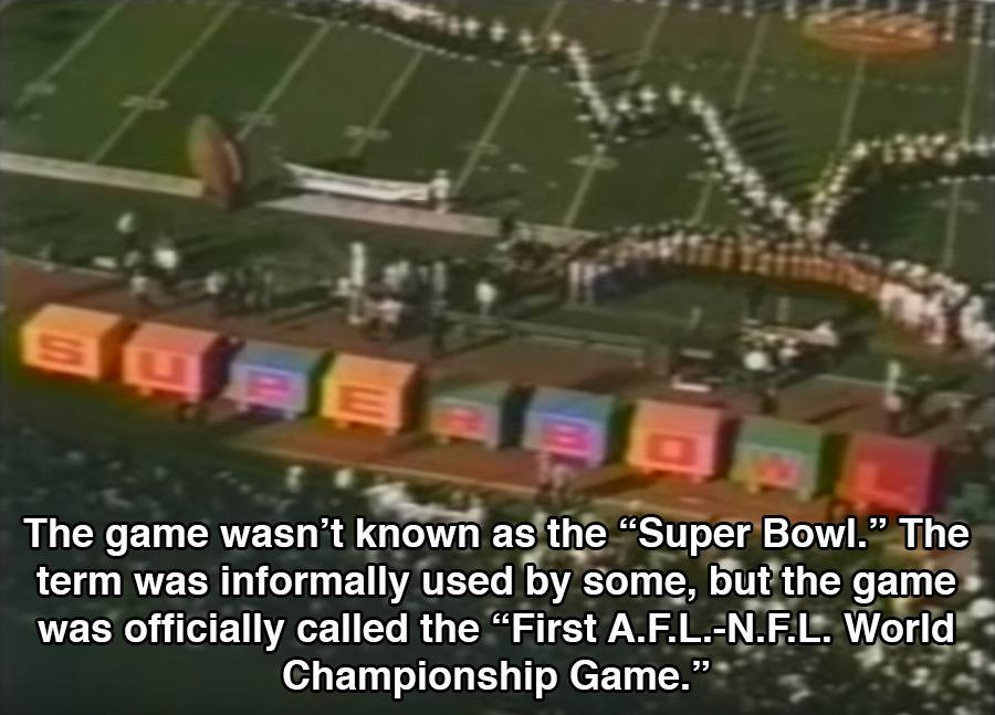 Super Bowl 1 Facts Name