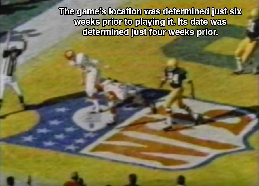 Super Bowl 1 Facts Planning