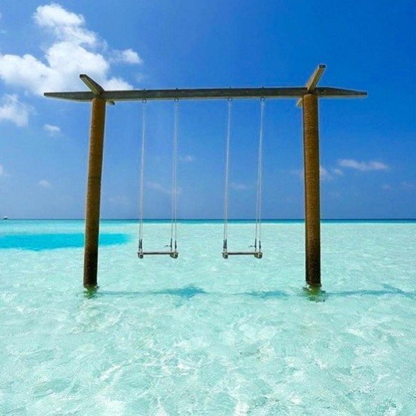 Swings Turquoise Water Tropical