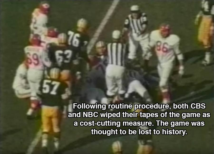 Super Bowl Tapes Wiped