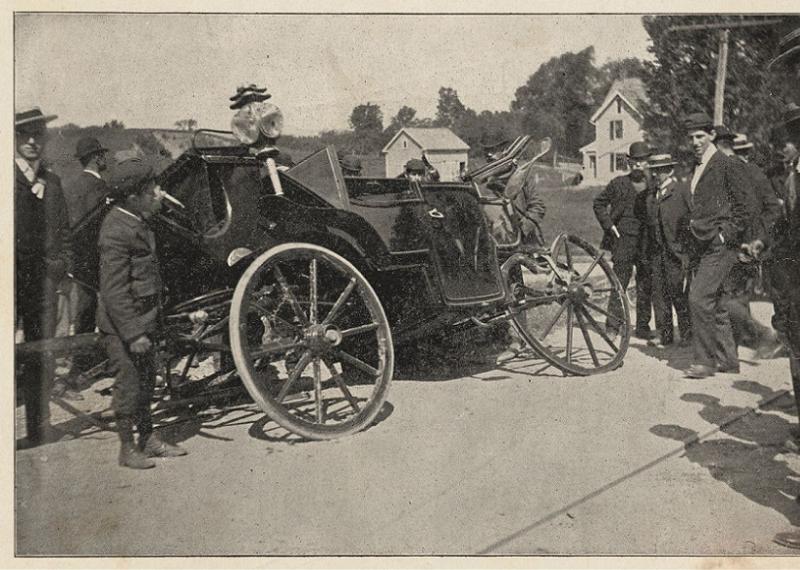 Teddy Roosevelt Crashed Carriage