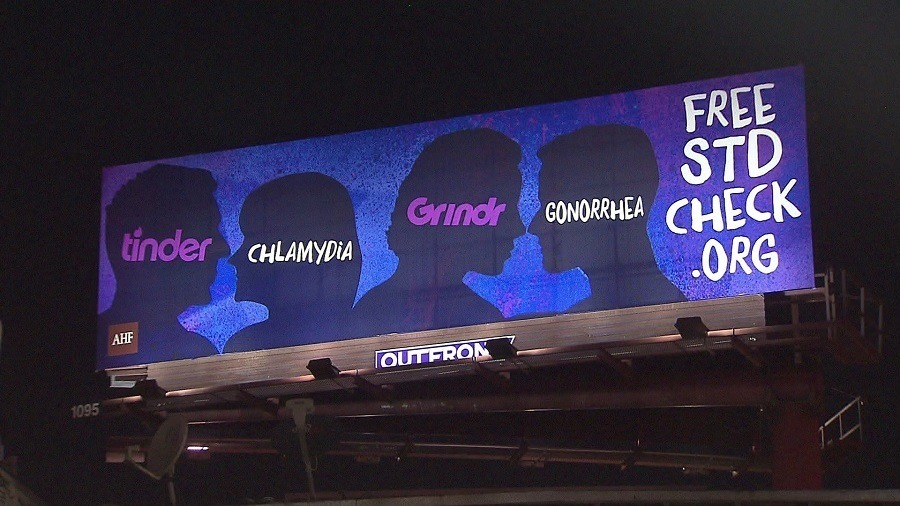 Tinder Std Billboard