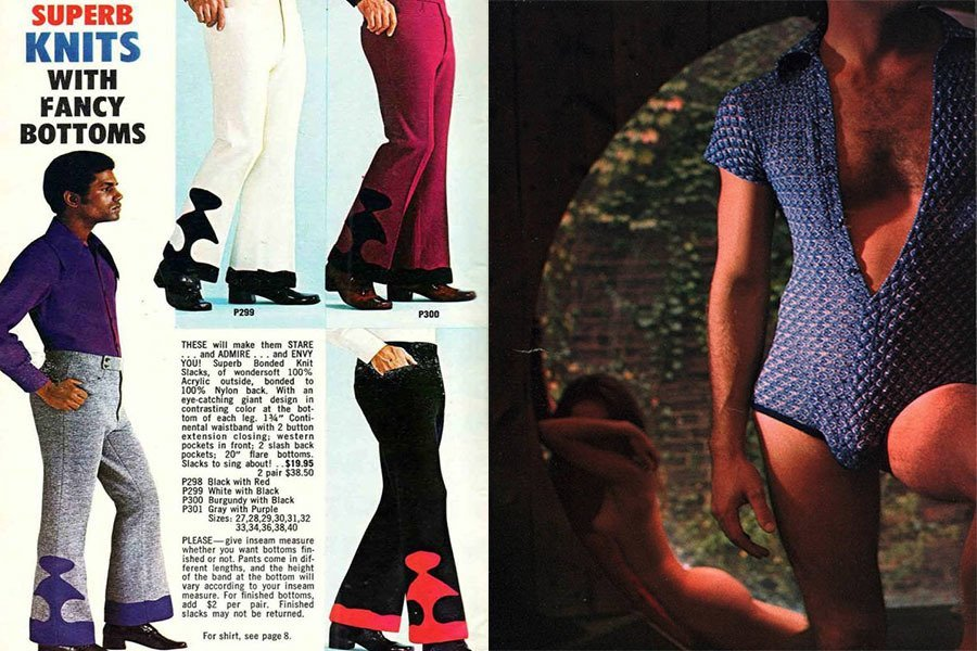Weird 1970s Menswear Fancy Bottoms