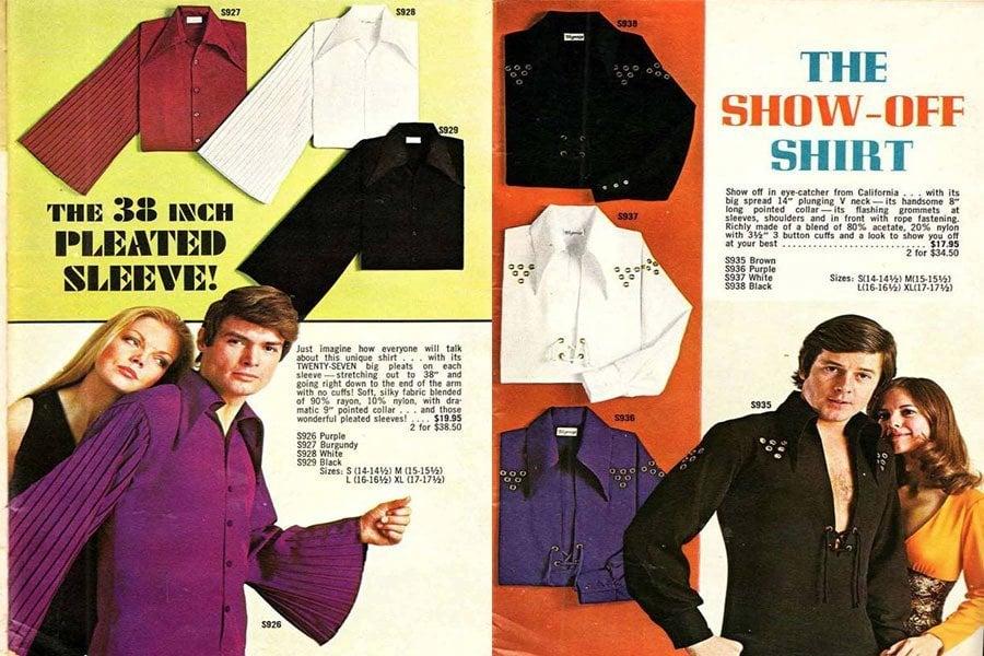 Weird 1970s Menswear Pleated Sleeve
