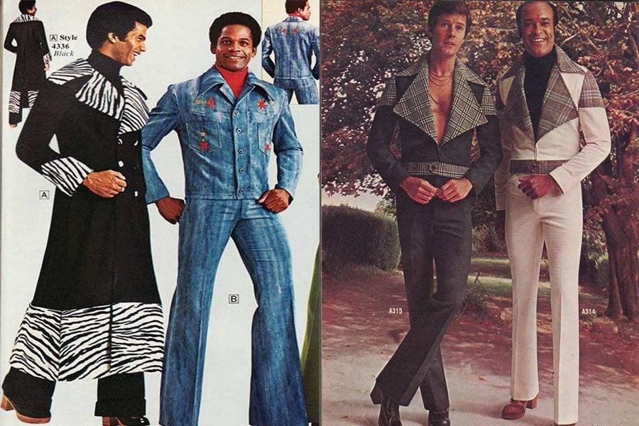 Weird 1970s Menswear Zebra